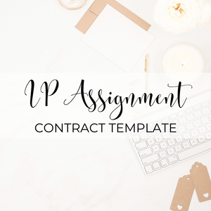 Assignment of Intellectual Property Template
