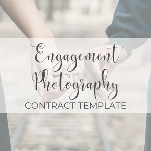 Engagement Photography Contract Template