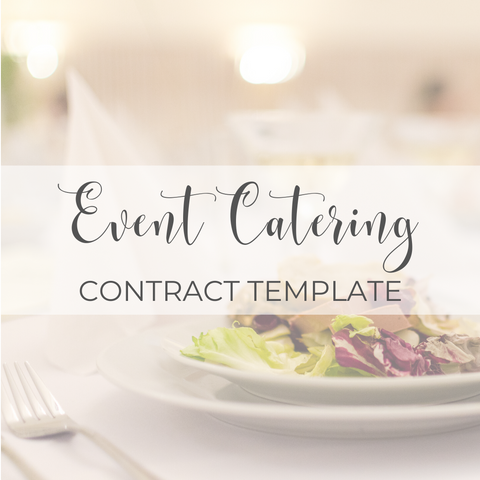 Event Catering Contract Template