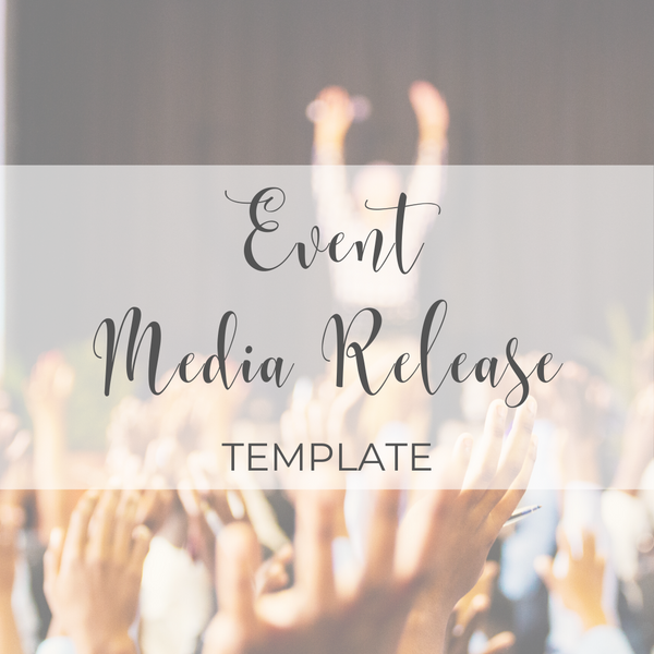 Event Media Release Template