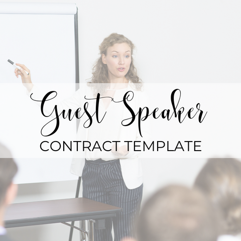 Guest Speaker Agreement Template