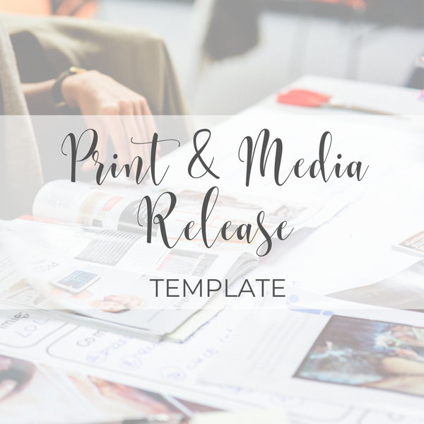 Print & Media Release Template
