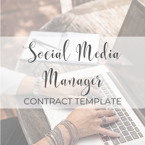 Social Media Manager Contract Template