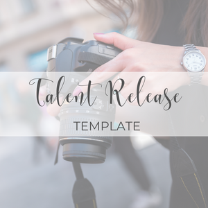 Talent Release Template