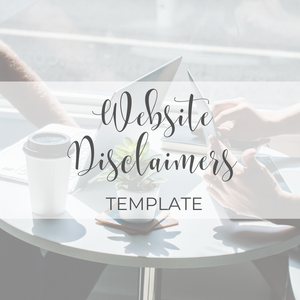 Website Disclaimers Template