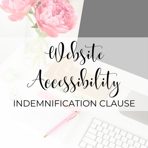 Website Accessibility Indemnification Clause