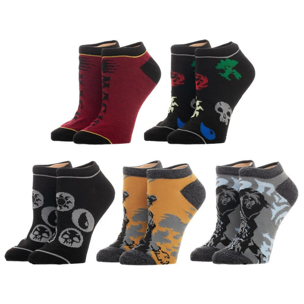 MtG Magic The Gathering 5 Pack Juniors Ankle Socks