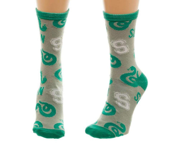 Harry Potter Slytherin Juniors Crew Socks