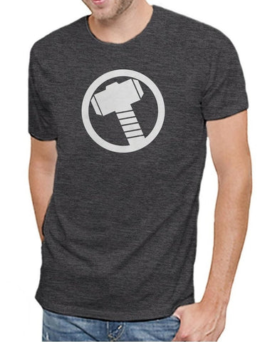 Marvel Comics Avengers Thor Logo Men's Soft Charcoal Heather T-shirt