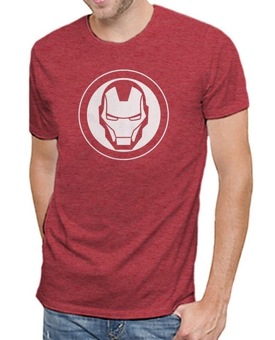 Marvel Comics Avengers Iron Man Logo Men's Soft Red Heather T-shirt