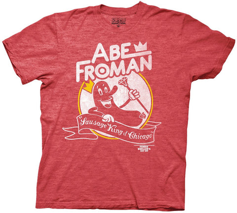 Ferris Buellers Day Off Abe Froman Mens Heathered Red T-shirt