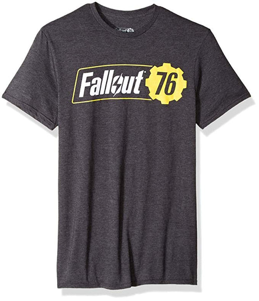 Bioworld Fallout 76 Logo Mens Charcoal Grey T-Shirt