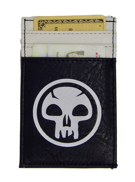 MtG Magic the Gathering Front Pocket Card Wallet Black Mana