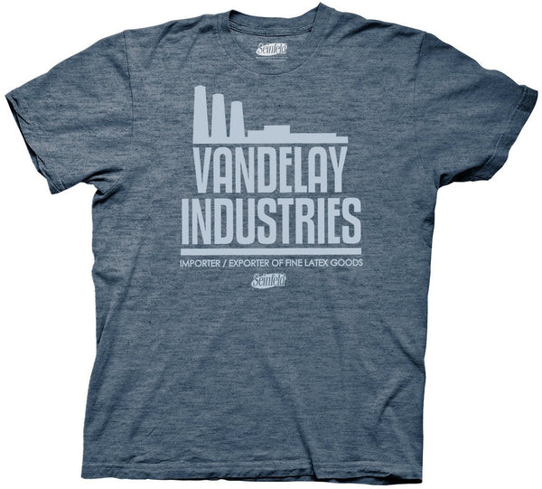 Seinfeld Vandelay Industries Men's Navy Heather T-Shirt