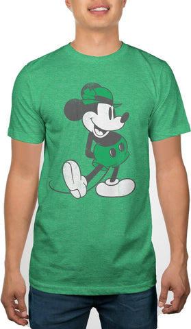 Mickey Mouse St. Patricks Day Standing Lucky Mens Green T-shirt