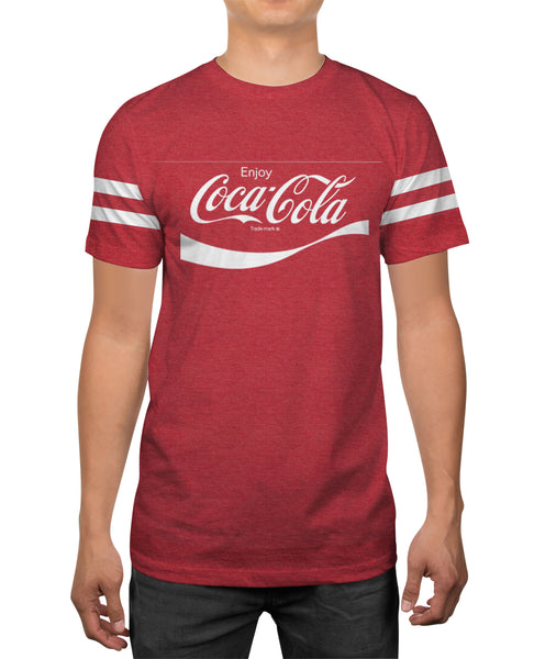Coca Cola Enjoy Logo Men's Soft Red Heather T-shirt
