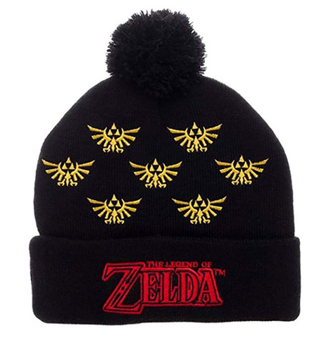 Nintendo Legend of Zelda Cuff Pom Beanie Winter Hat