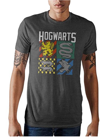Harry Potter Hogwarts House Crest Mens T-shirt