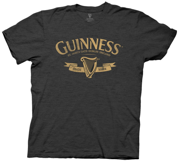 St Paddy's Day Guinness Yellow Logo Mens T-Shirt