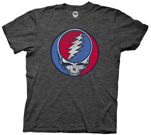 Grateful Dead Steal Your Face Mens Charcoal Heather T-Shirt
