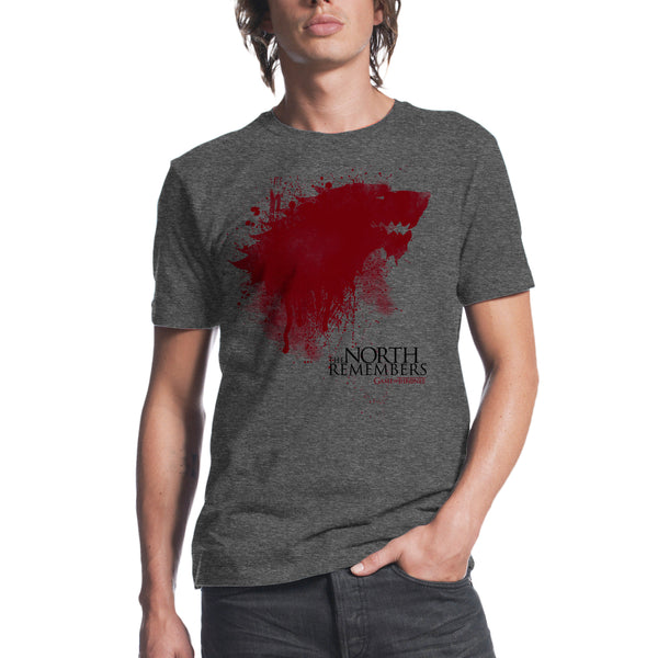 Game of Thrones The North Remembers Men's Charcoal Heather T-shirt