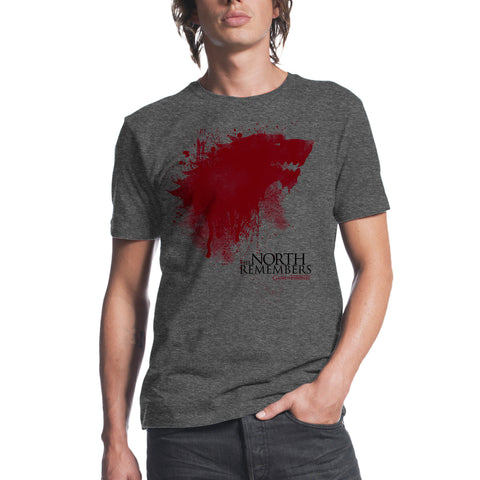 Game of Thrones The North Remembers Mens Charcoal Heather T-shirt
