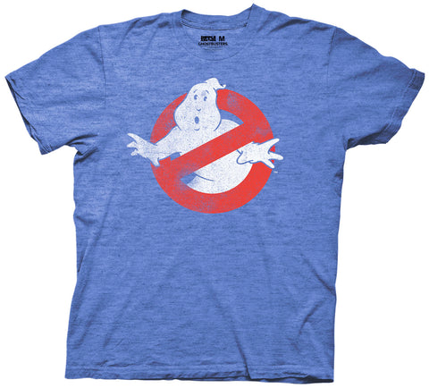 Ghostbusters Logo Mens Royal Blue T-Shirt