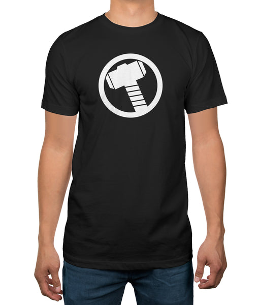 Marvel Comics Avengers Thor Logo Mens Black T-shirt