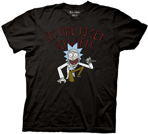 Rick and Morty It's Time to Get Schwifty Adult T-Shirt