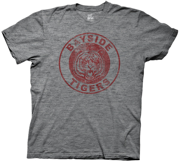 Saved by the Bell Bayside Tigers Mens Soft Grey Tri-Blend T-shirt