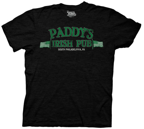 It's Always Sunny in Philadelphia Paddys Irish Pub Adult Black Heather T-Shirt