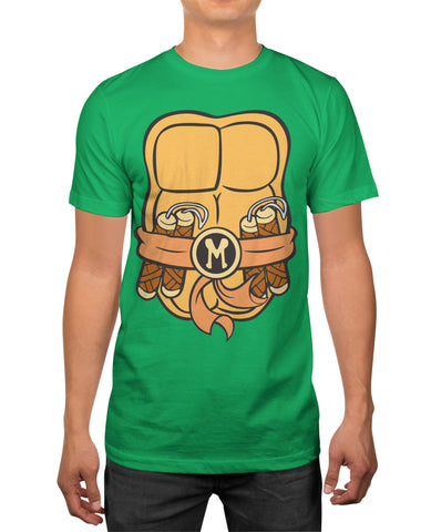 TMNT Teenage Mutant Ninja Turtles Mens Two-Sided Costume T-Shirt
