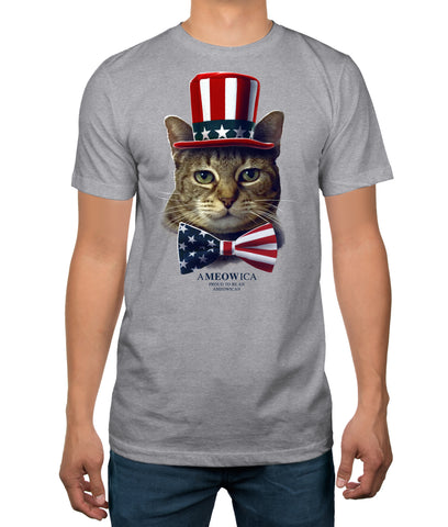 Hybrid Ameowica Patriotic Cat Adult T-Shirt