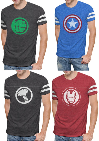 Marvel Comics Avengers Varsity Logo Mens T-Shirt | Infinity War Endgame Edition