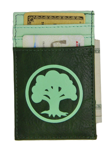 Magic the Gathering Front Pocket Card Wallet Green Mana MtG