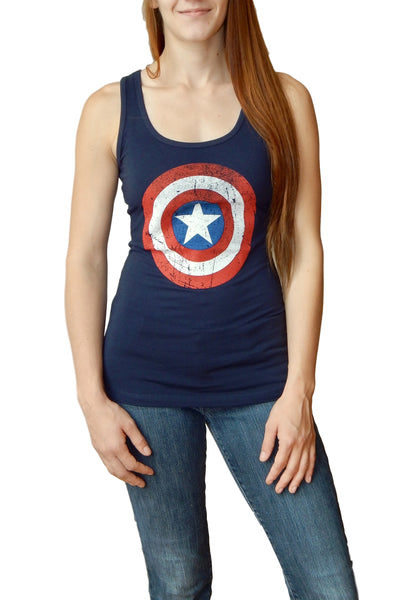 Marvel Comics Captain America Juniors Tank Top