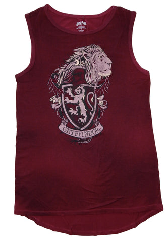 Harry Potter House Gryffindor Womens Juniors Muscle Tank Top