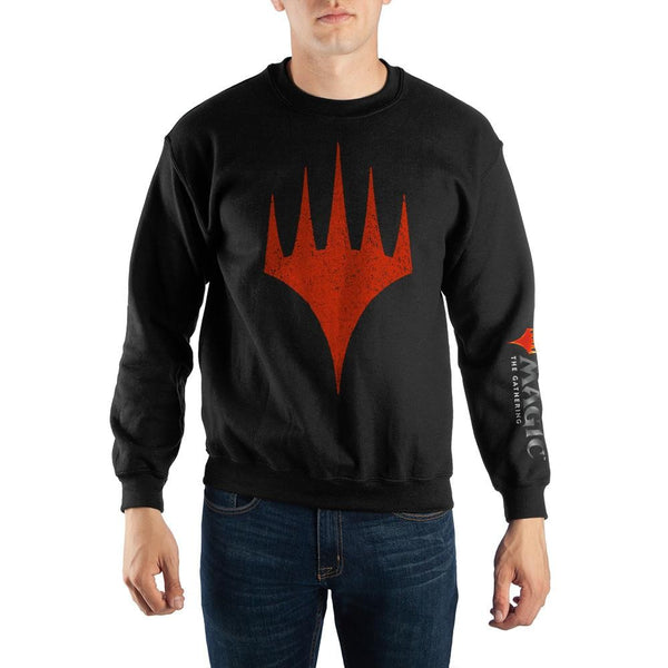 Magic The Gathering MTG Arena Planeswalker Logo Crew Neck Lightweight Long Sleeve T-shirt
