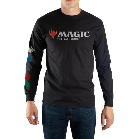 Magic The Gathering MTG Arena Planeswalker Logo Long Sleeve Cotton Tee