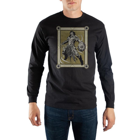 MtG Magic the Gathering Gideon Jura Planeswalker Black Long Sleeve Tee