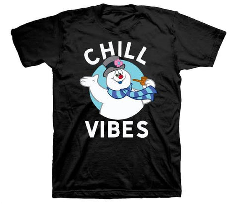 Frosty The Snowman Chill Vibe Adult T-Shirt