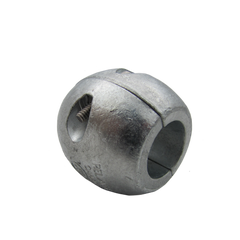 "1"" inch ball shaft anode in zinc"