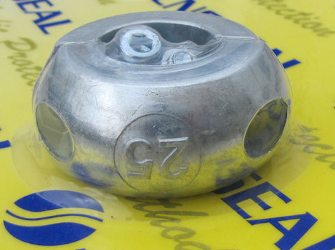 "Shaft Anode collar, 19mm, 22mm, 1"", 25mm, 11/8"", 30mm, 35mm, 11/4"", 11/2"" in zinc"