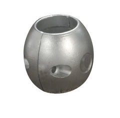 Aluminium ball shaft anode