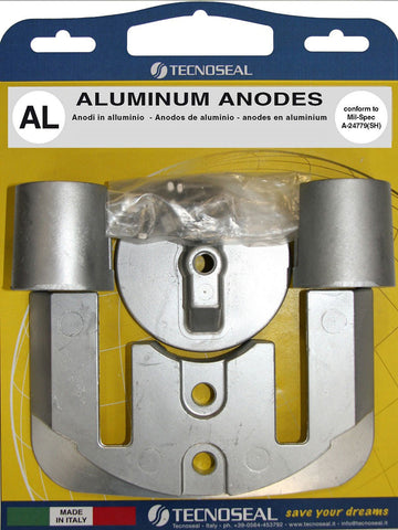 Anode kit for Mercruiser Bravo 2-3 sterndrive in Aluminium