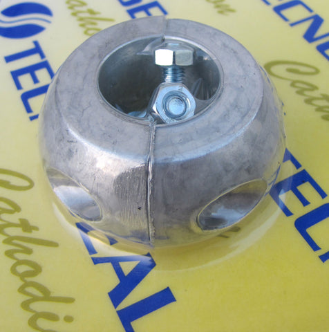 Aluminium  collar anode, 7/8 inch or 22mm shaft