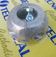 Aluminium  collar anode, 1 1/8 inch shaft