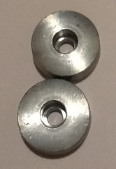 Pair of Flexofold propeller side nut anodes in zinc