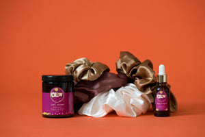 The Curl Cream & Olew Original Scrunchie Gift Set