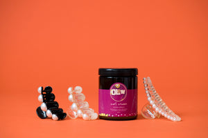 The Olew Curl Cream with Pearl Hair Claw Gift Set